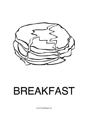 Breakfast Sign