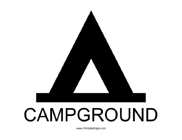 Campground with caption Sign