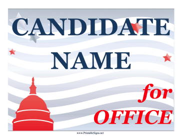 Capitol Campaign Sign Sign