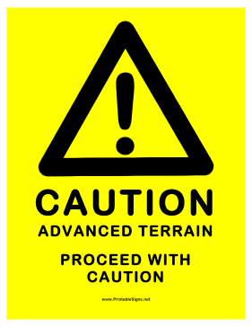 Advanced Terrain Warning Sign