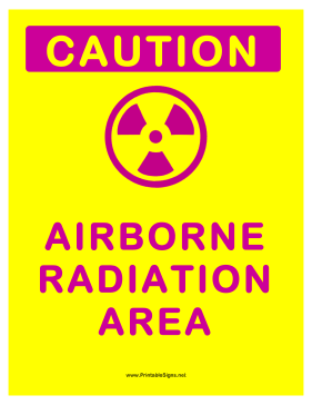 Airborne Radiation Sign