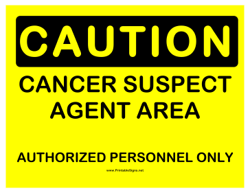 Caution Cancer Suspect Agent Sign