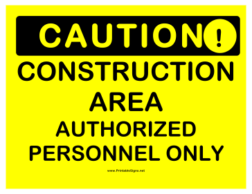 photo about Construction Signs Printable called Printable Warning Framework Community Signal