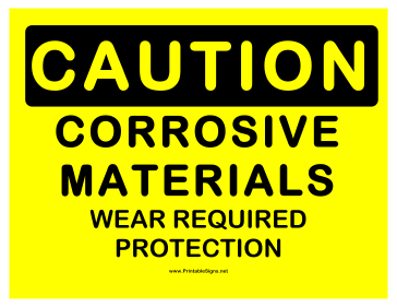 Caution Corrosive Sign