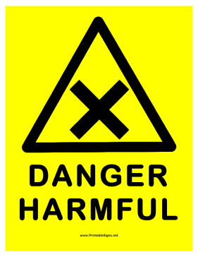 Danger Harmful Sign