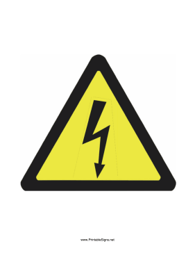 Caution Electricity Sign
