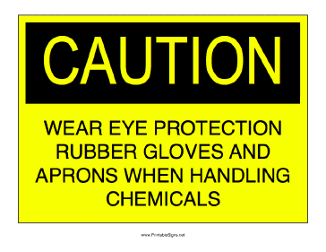 Chemical Safety Precautions Sign