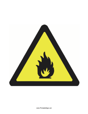 Caution Fire Sign Sign