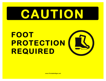 Foot Protection Sign