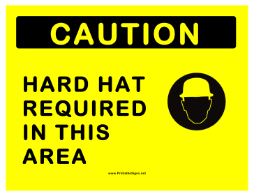 Hard Hats Required Sign