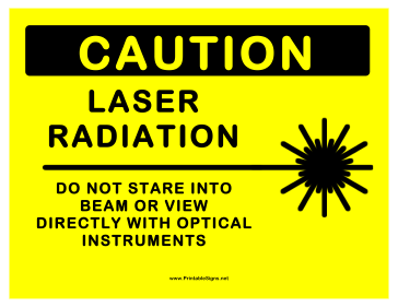 Laser Radiation Sign