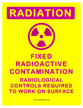 Radiation Contamination Sign