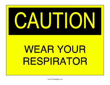 Respirator Required Sign
