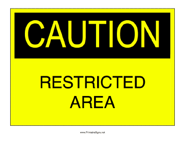 Restricted Area Sign