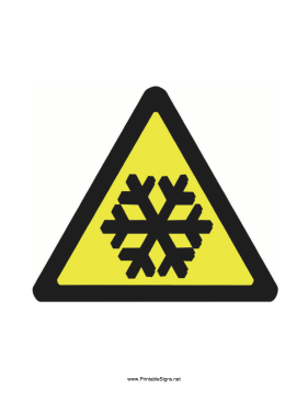 Caution Snow Conditions Sign