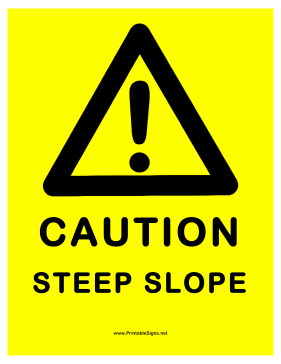 Steep Slope Sign