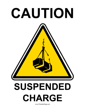 Caution Suspended Charge Sign