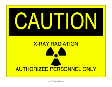 X-ray Radiation Sign