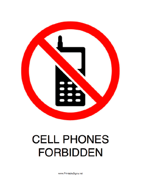 Cell Phones Forbidden Sign