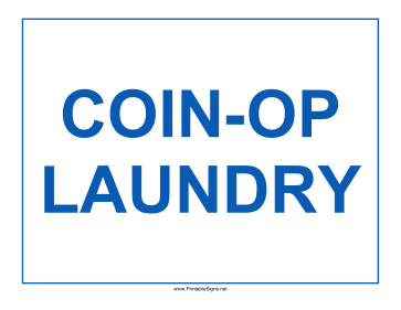 Coin-Op Laundry Sign