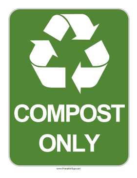 Compost Sign Sign