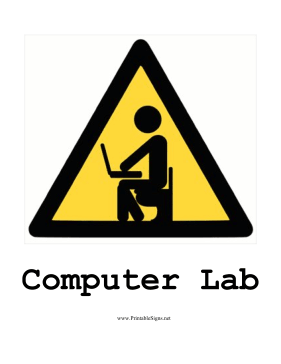 Computer Lab Sign