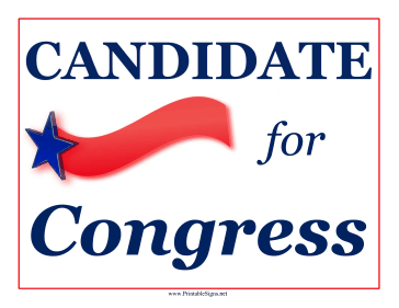 Congress Campaign Sign Sign