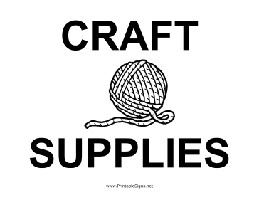 Craft Supplies Yard Sale Sign