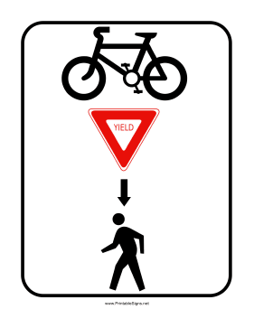 Cyclists Yield Sign