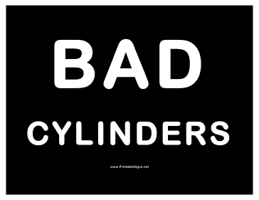Cylinders Bad Cylinders Sign