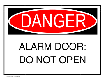 Alarm Door Sign
