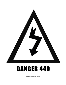 Danger 440 Voltage Sign
