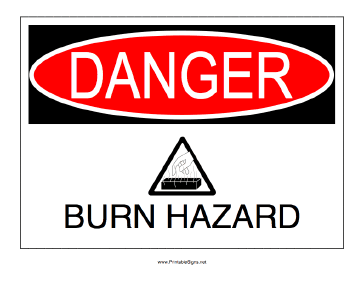 Burn Hazard Sign