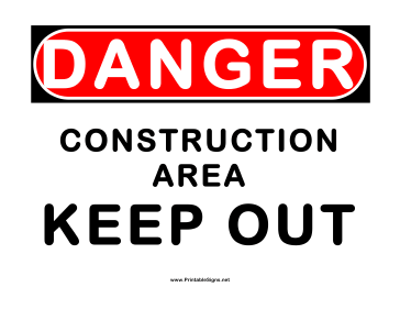 image about Construction Signs Printable called Printable Hazard Framework Local Signal