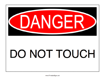 Danger Do Not Touch Sign