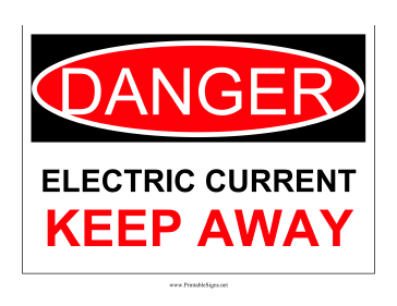 Danger Electric Current Sign
