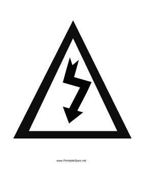 Danger High Voltage Graphic Sign