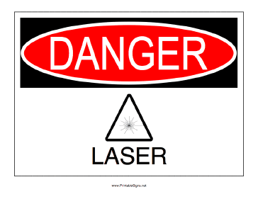 Laser Operating Sign