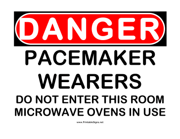 Danger Pacemaker Sign