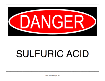 Sulfuric Acid Sign