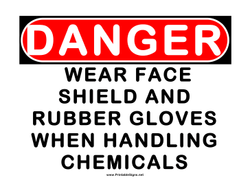 Danger Wear Face Shield Sign