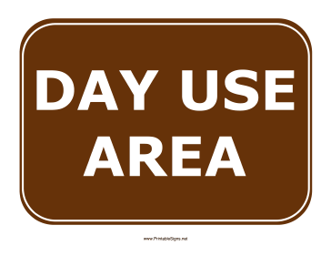 Day Use Sign Sign