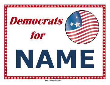 Democrats Support Campaign Sign