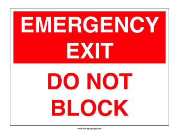 Do Not Block Sign