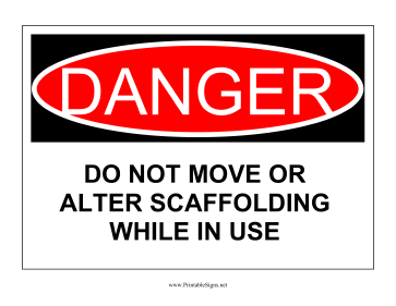Do Not Move Ladder Sign