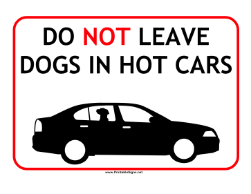 Dogs Hot Cars Sign