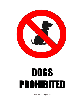 Dogs Prohibited Sign