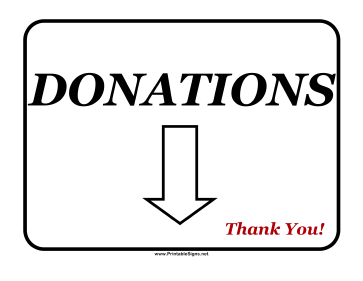 Donations Sign Sign