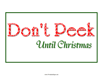 Don't Peek Christmas Sign