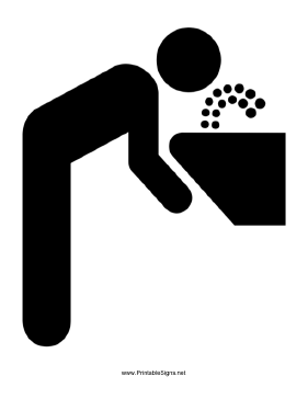 Drinking Fountain Sign